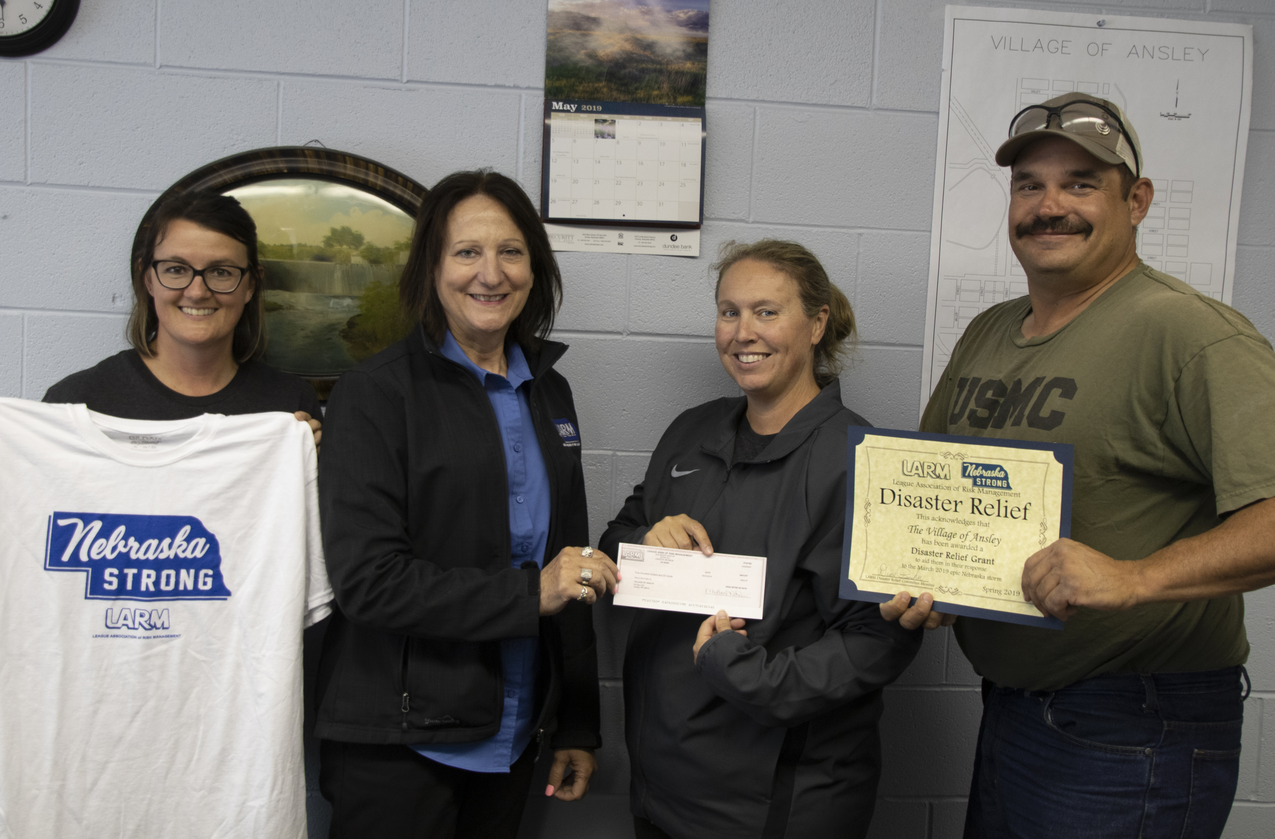 Ansley receives $500 in Disaster Assistance