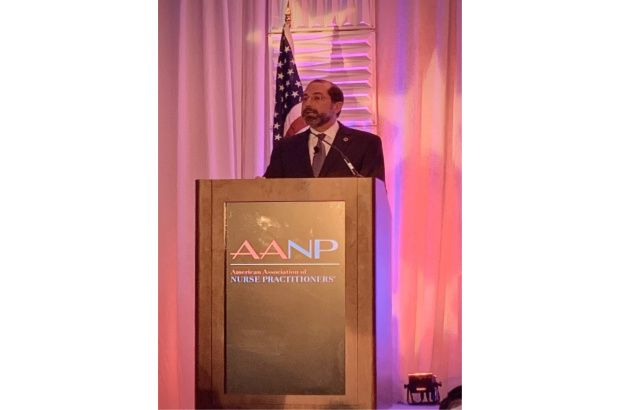 Hear (HHS) Secretary Alex Azar said to nurse practitioners (NPs) during his address at the 2020 AANP Health Policy Conference.