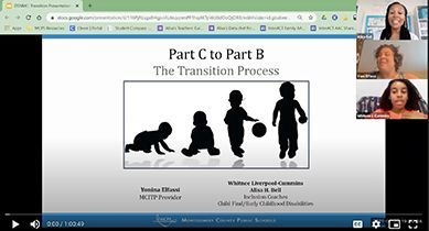 Transitioning from the  MCPS Infants & Toddlers Program to MCPS Special Education Pre-K Services