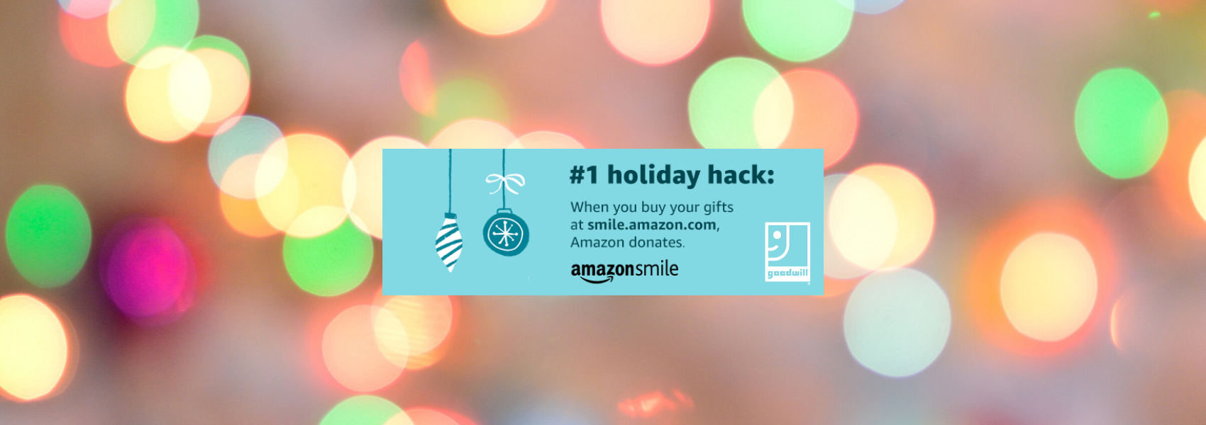 You shop. Amazon gives to Goodwill.