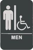 01 Mens Restroom Sign with ADA Symbol