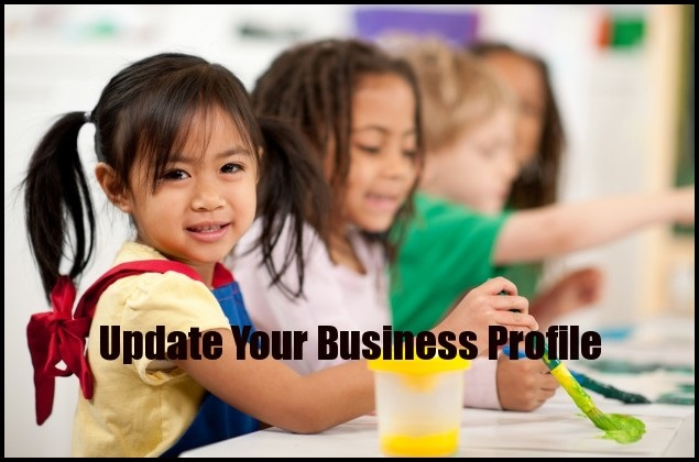 update your business profile