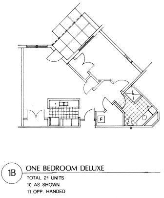 Apartment 1 B Floor Plan