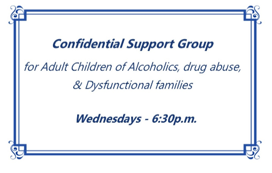 Confidential Support Group for Children of Alcoholics, Drug Abuse, & Dysfunctional Families