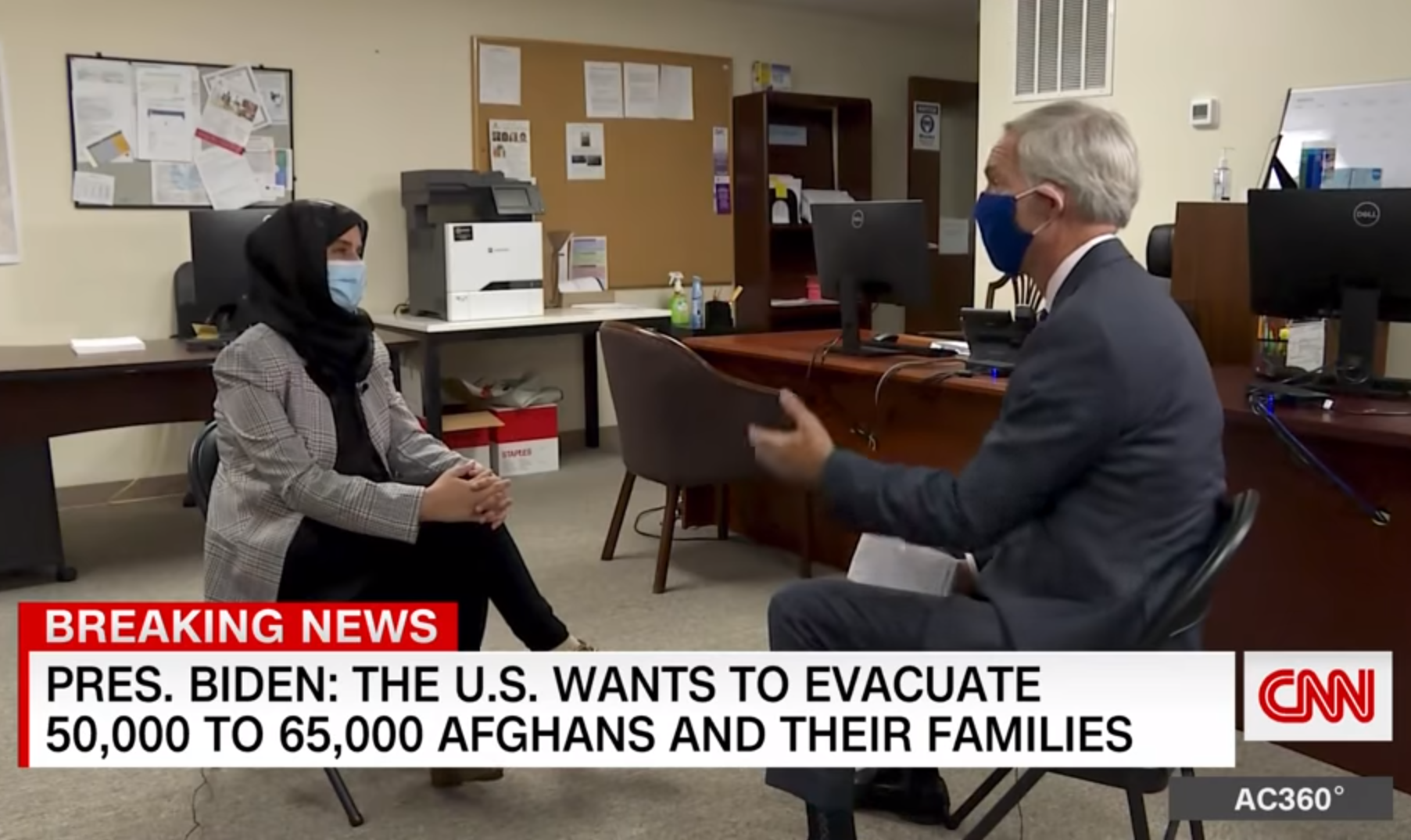 Afghan refugees arrive in the US after fleeing the Taliban