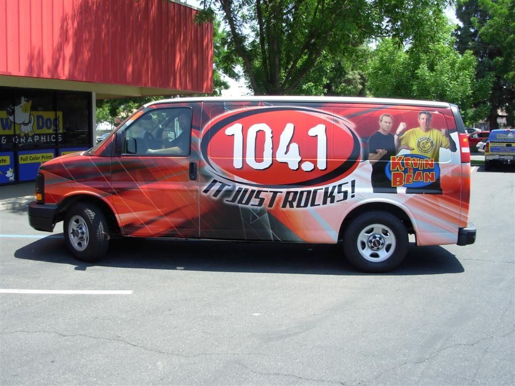 New Rock 104.1 Van