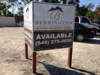 Post and panel commercial real estate signs Bend Oregon