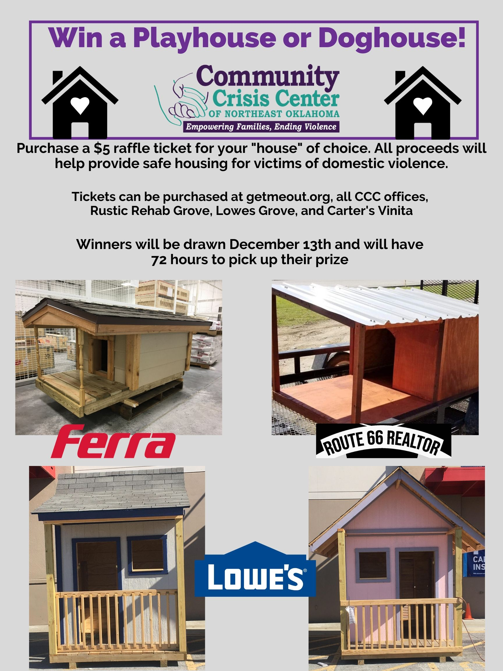 Win A Pet or Play House!