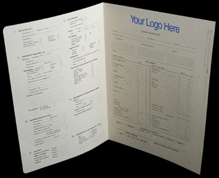 Personalized Title Folders/Title Jackets/Tab Sets