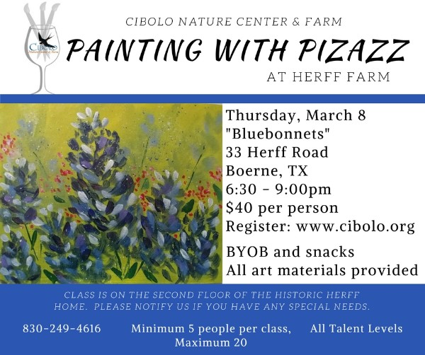 "FARM:  Painting with Pizazz: ""Bluebonnets"""
