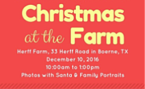 Christmas with Santa at the  Herff Farm