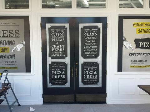 Restaurant vinyl window graphics Orange County
