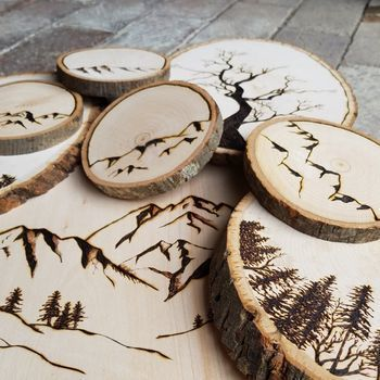 Wood Burning: A Nature Scene