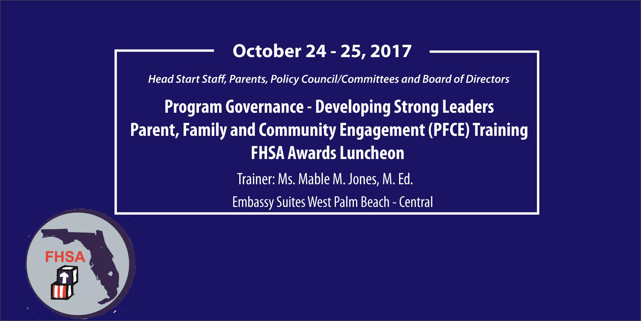 FHSA Program Governance, PFCE Traininig and Awards Luncheon