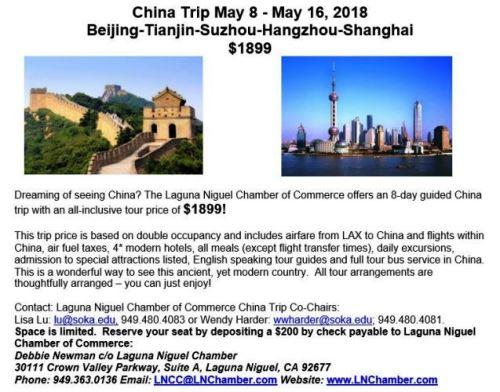 May 2018 China 8-Day Trip Itinerary