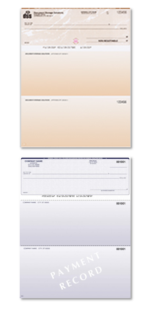 Image of Different Colored Business Checks