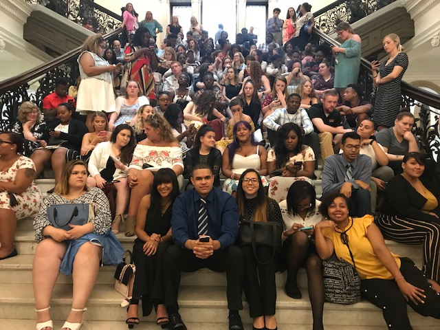 2018 UYCP Interns at Statehouse