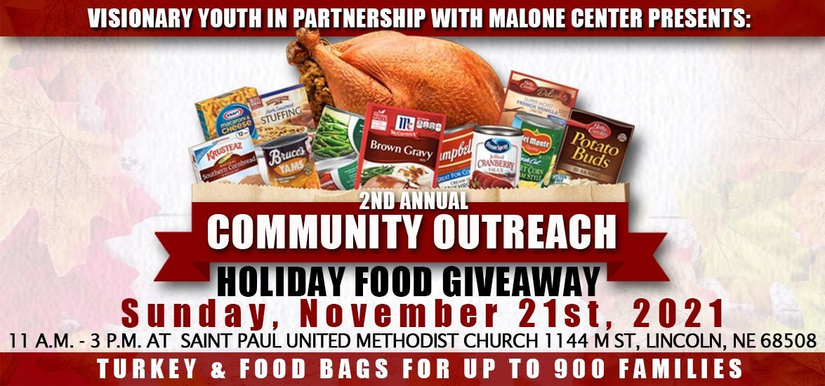 2ND ANNUAL COMMUNITY OUTREACH FOOD GIVEAWAY