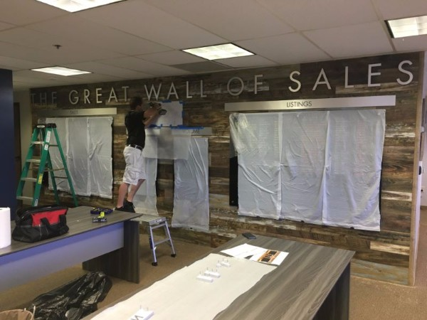 Dimensional Letter Sales Room Wall Signs in Orange County CA