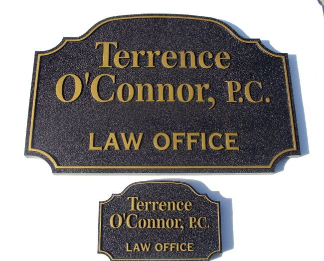 A10115 - Sandblasted Law Office Wall and Door Signs