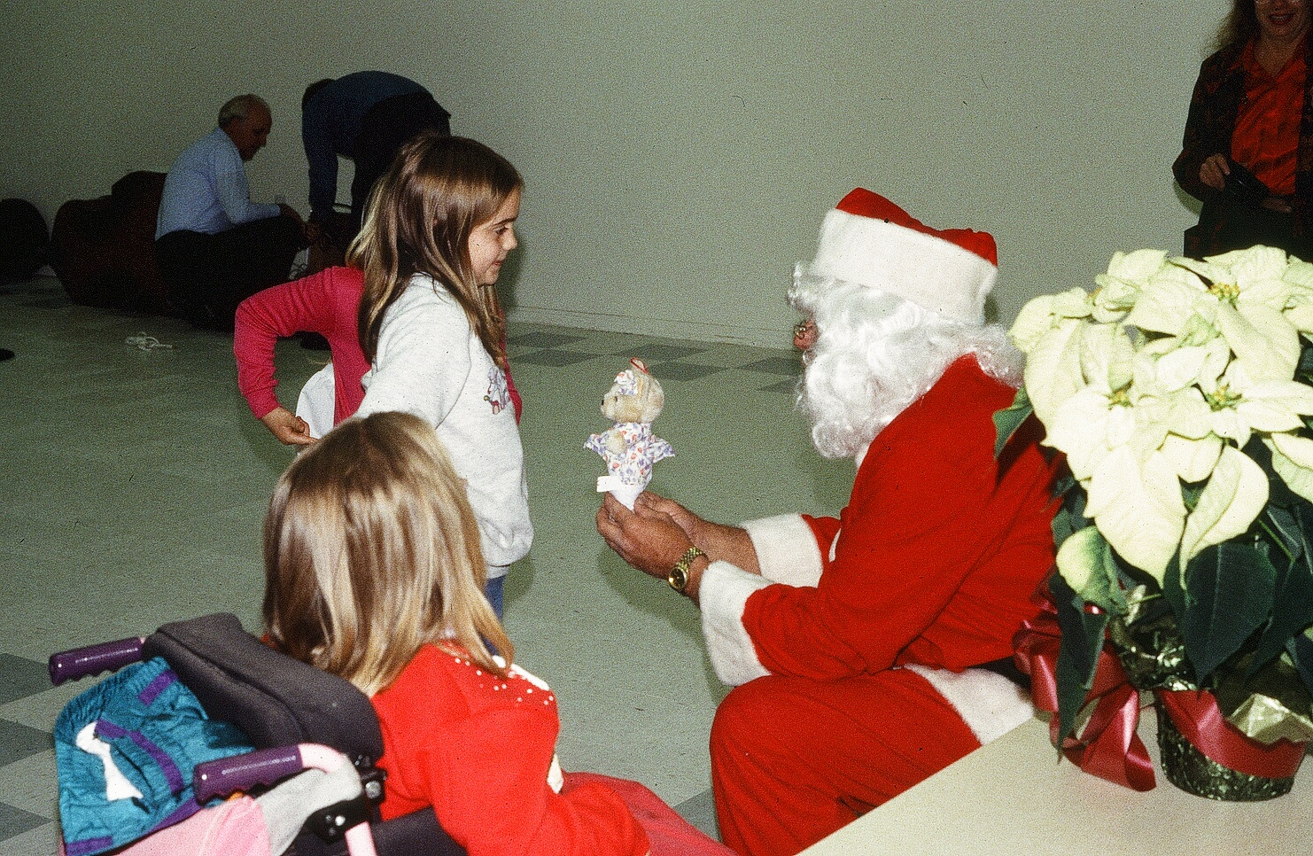 Santa reaches out to help