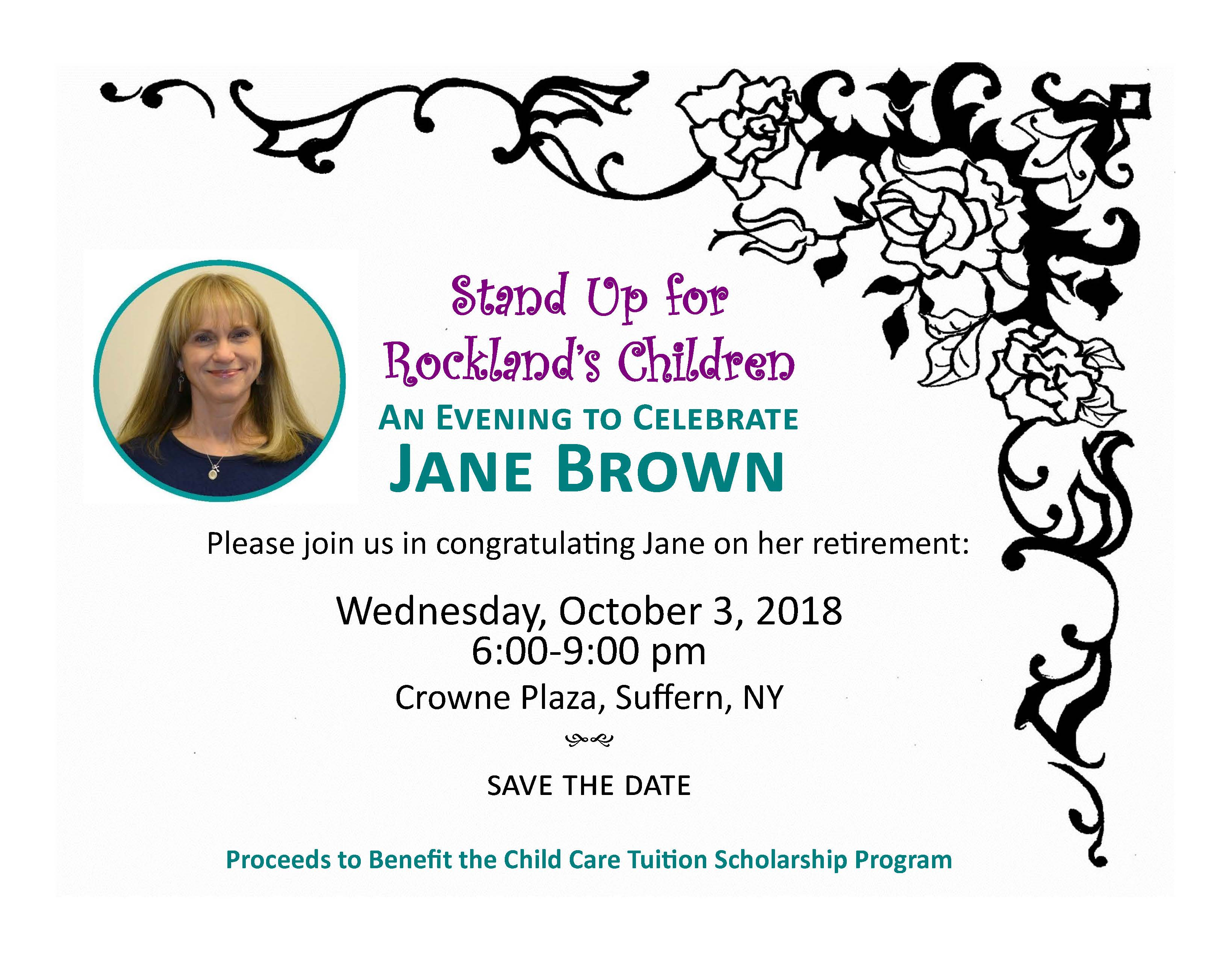 Jane Brown's Retirement Event