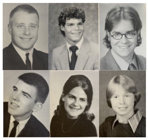 Top to bottom, left to right: Chuck Chase '64, Tommy Heckert '86, Jordan Hoffman '00, Earl Dunlap '65, Dr. Suzanne Hickman '71, Judy (Rink) Buckenmyer '78