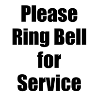 """8"""" x 8"""" Ring Bell for Service Sign"""