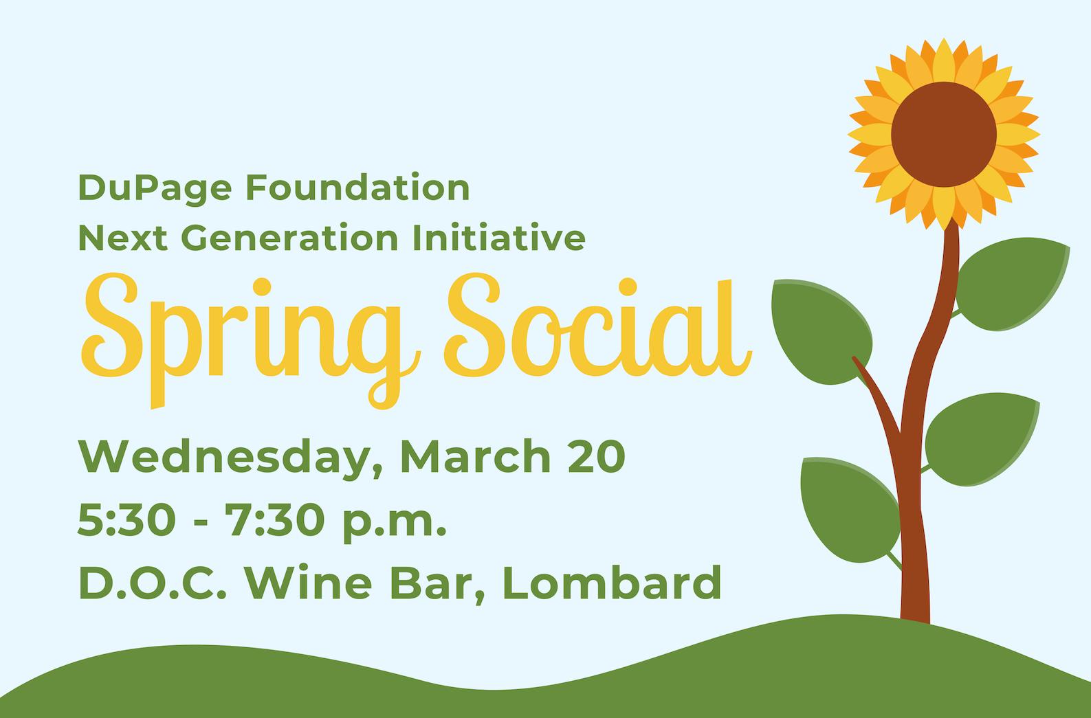 NGI Spring Social: REGISTRATION IS CLOSED