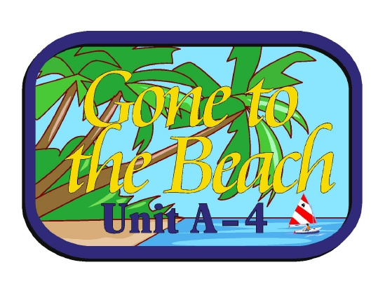 "L21122 - Design of an Address Sign ""Gone to Beach,"" with Ocean, Beach and Palm Tree"