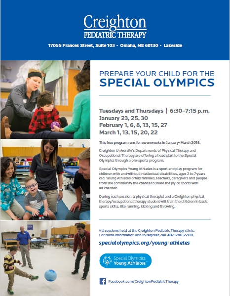 Young Athletes Program with Creighton Pediatric Therapy