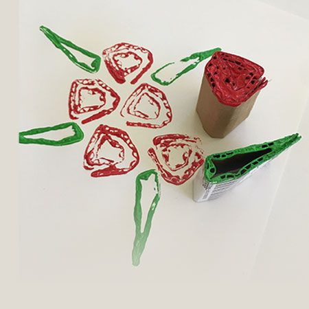Cardboard Rose Bouquet Stamps