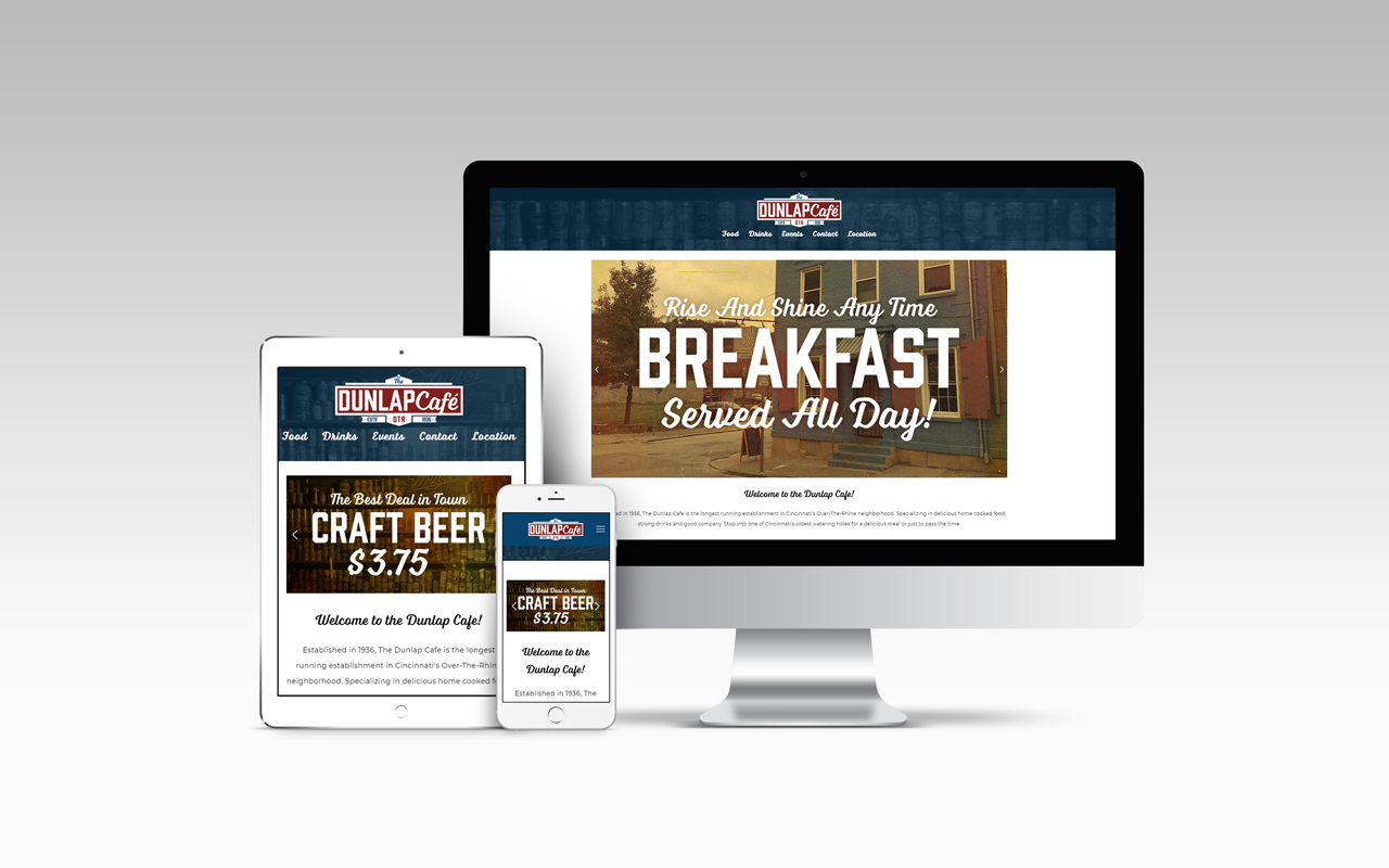 Dunlap Cafe - Website Design Mock Up