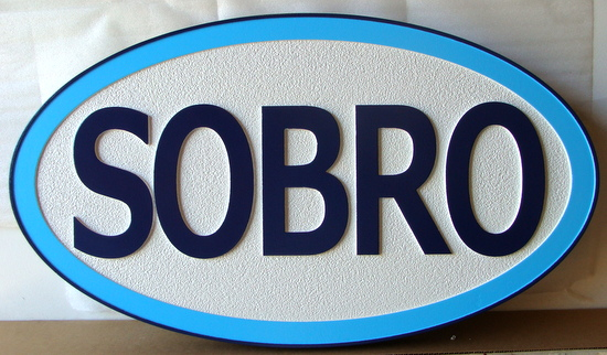 "I18396 - Sandblasted HDU  Resident Name Size, ""Sobro"""