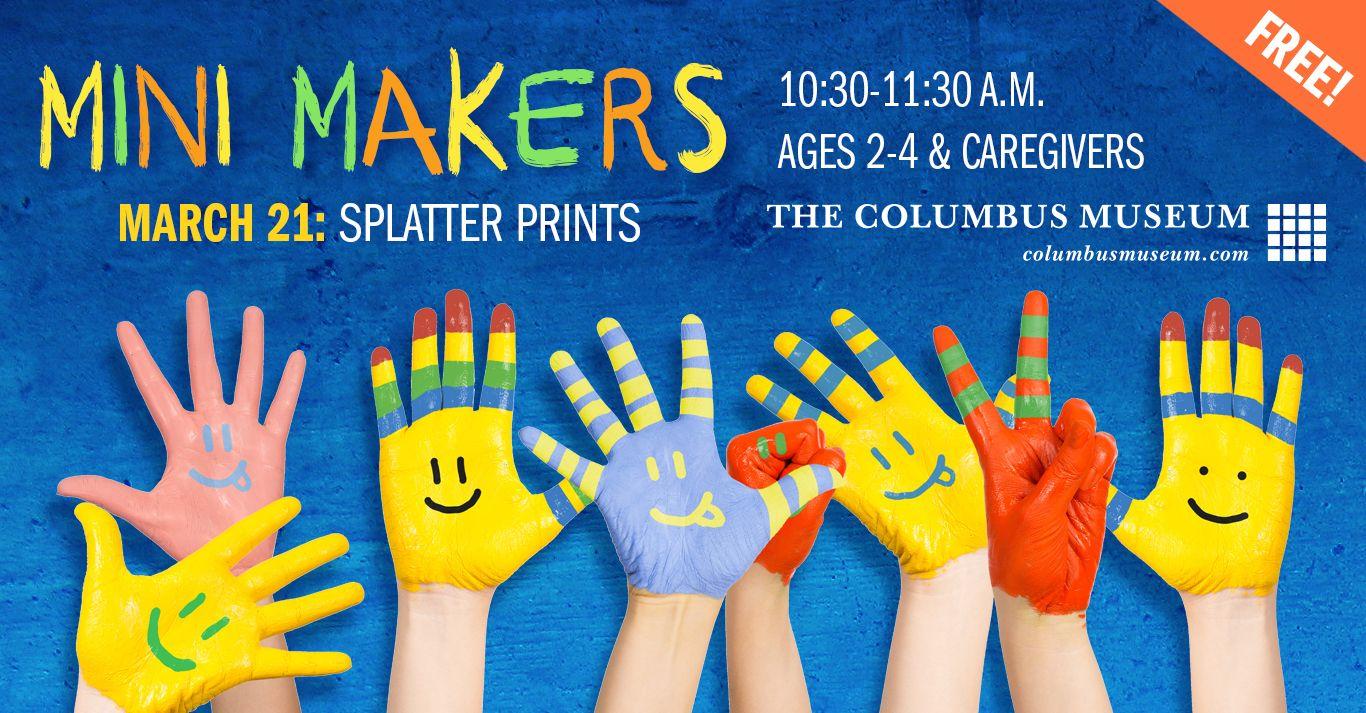 CANCELED: Mini Makers: Splatter Prints