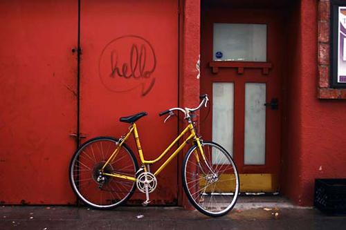 """Hello Yellow Bike, Photography, 17"""" x 11"""""""