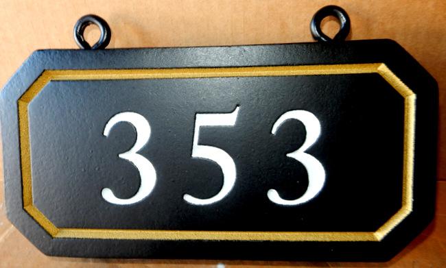 I18884 - Hanging Engraved Address Number Sign