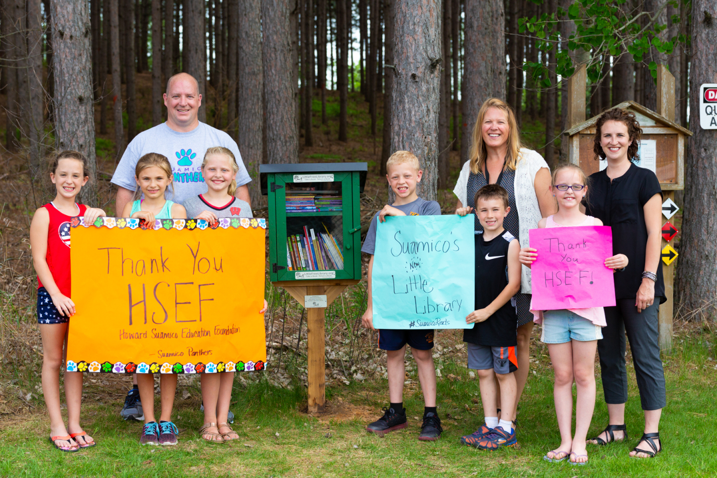 "HSEF Grant Supports ""Little Free Library"" at Suamico Elementary"