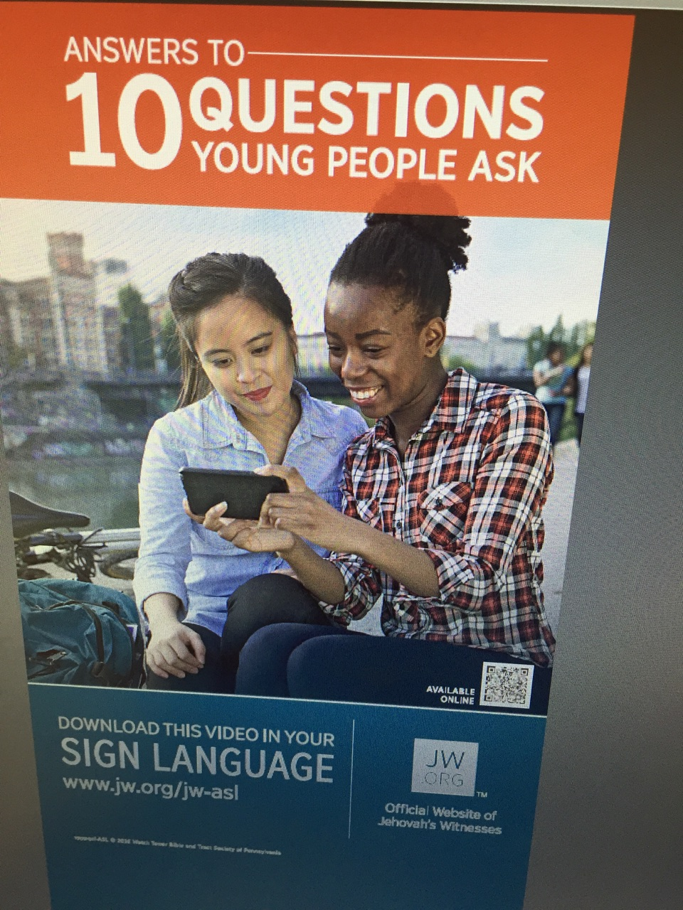 "Specifically for ASL-""Answers to 10 Questions Young People Ask"" (Brochure)"