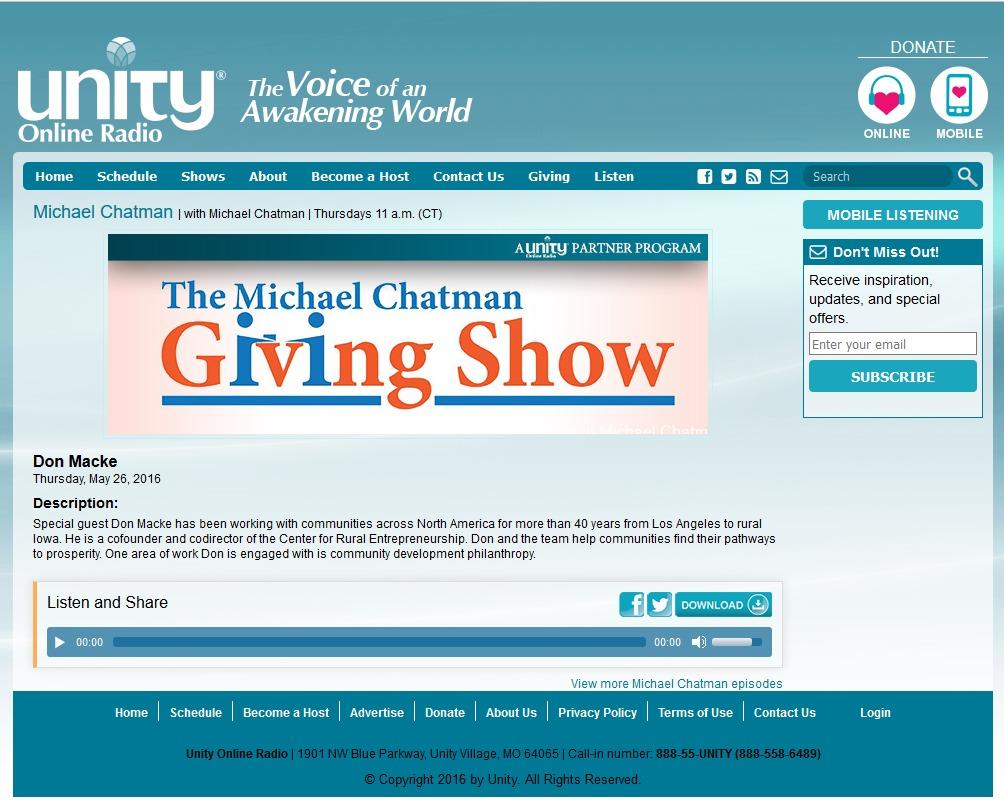 The Michael Chatman Giving Show