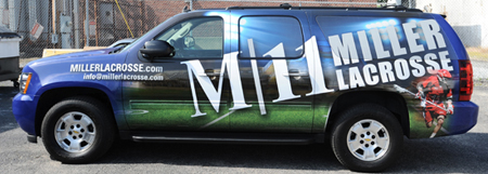 Miller 11 Lacrosse Car Wrap