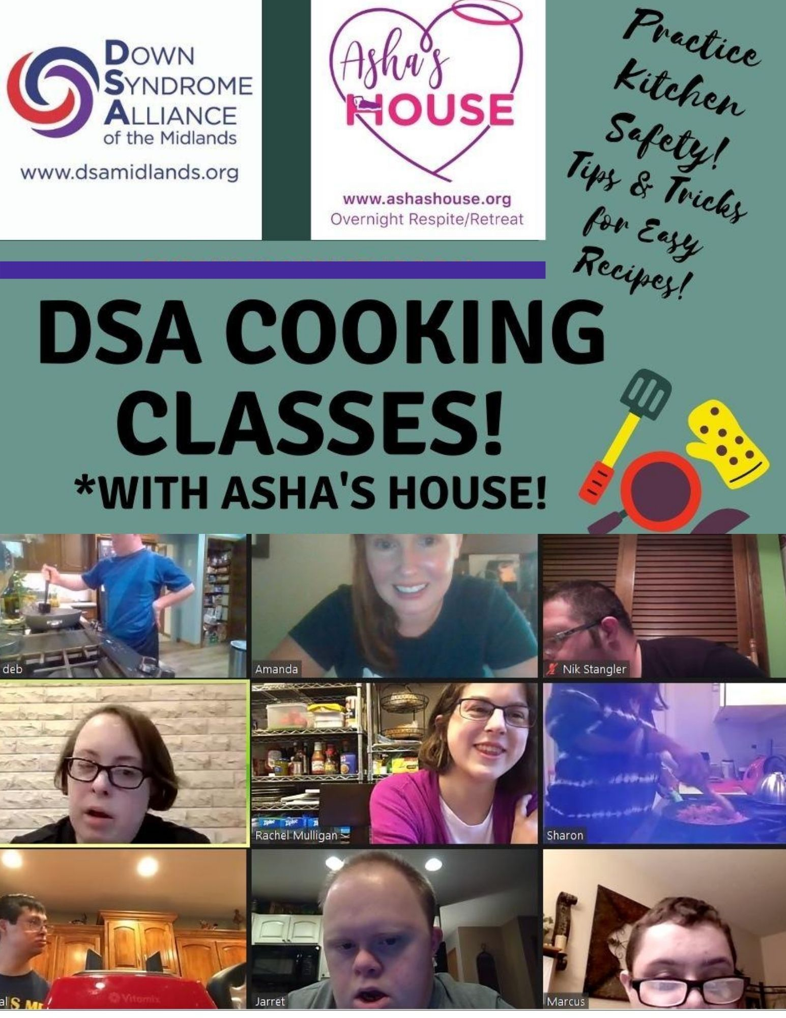 Cooking Classes 16 and up (Online)