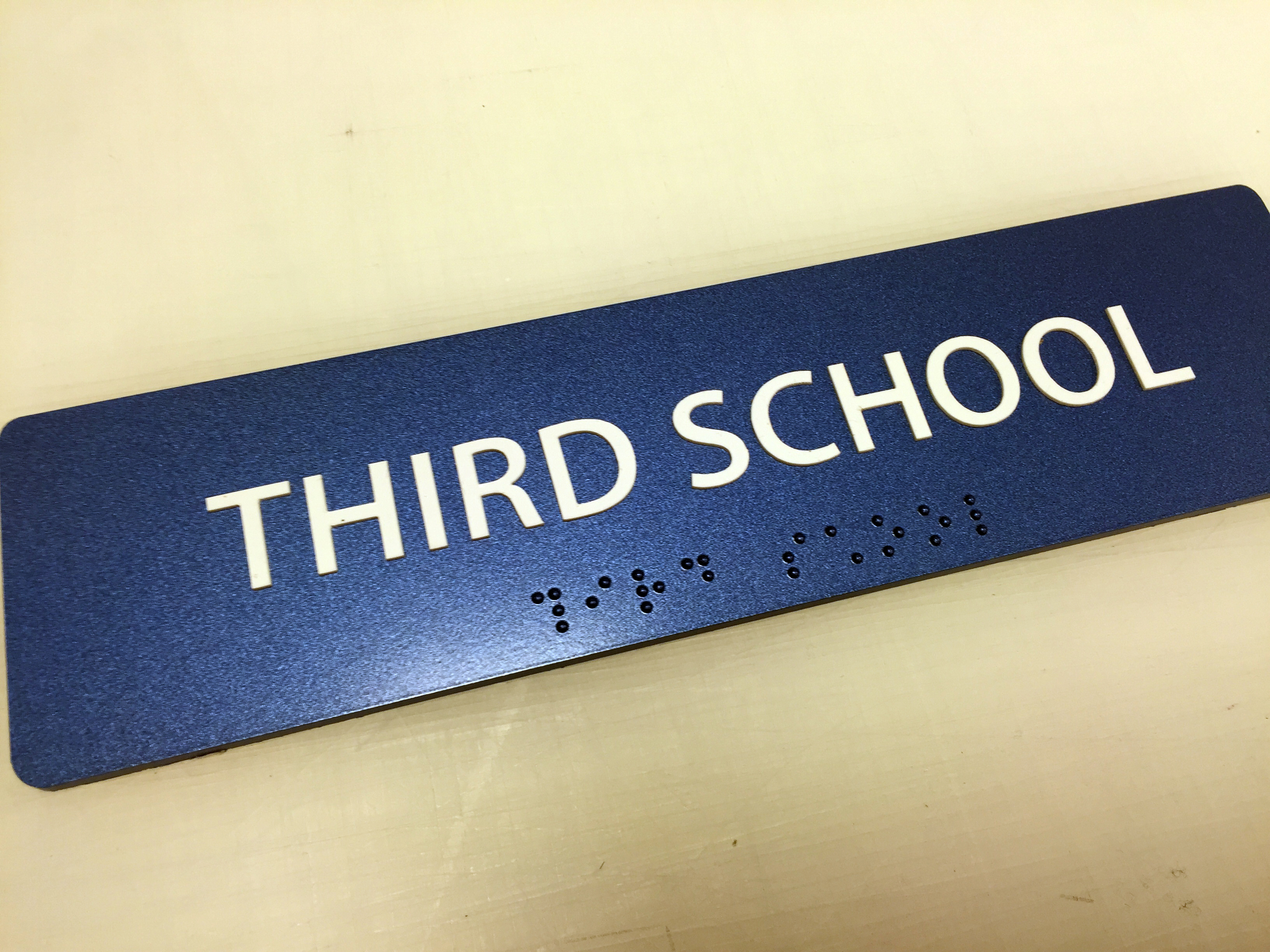 """Third School"" Sign- Limited Quantities"