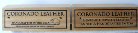 SB28973 - Carved and Engraved Western Red Cedar Indoor  Signs for the  Coronado Leather Company