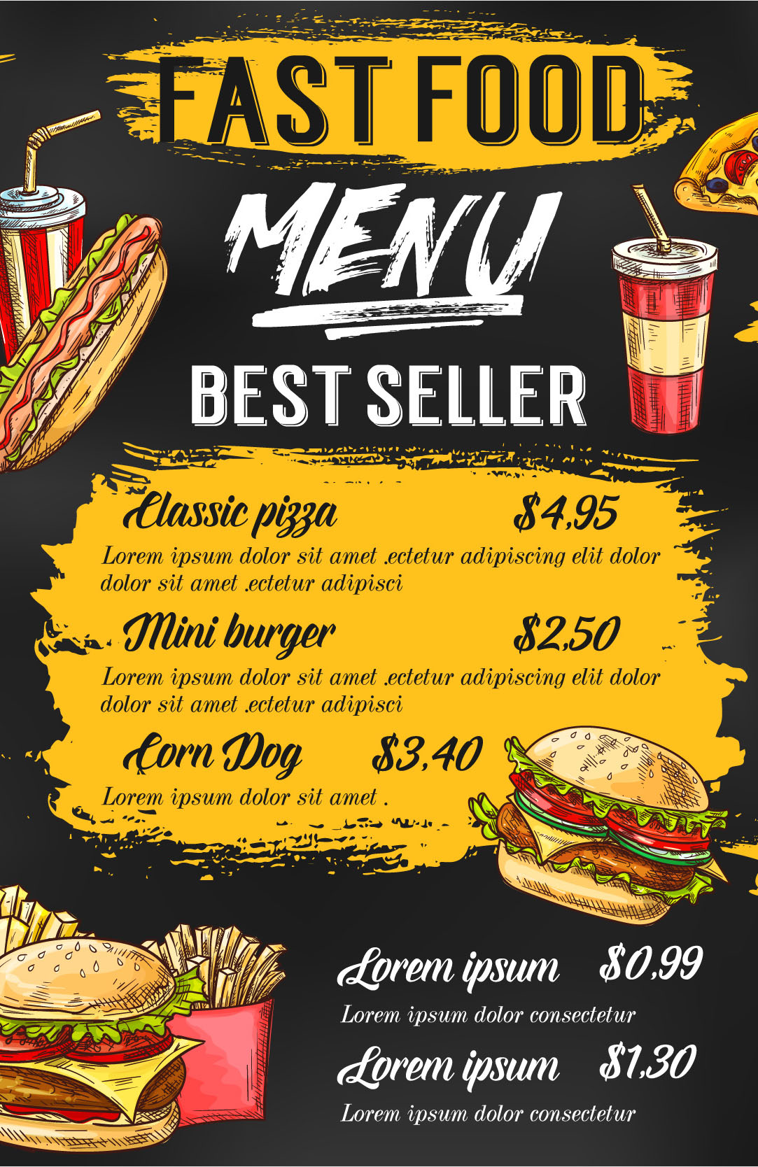Menus - Full Color 8.5 x 11