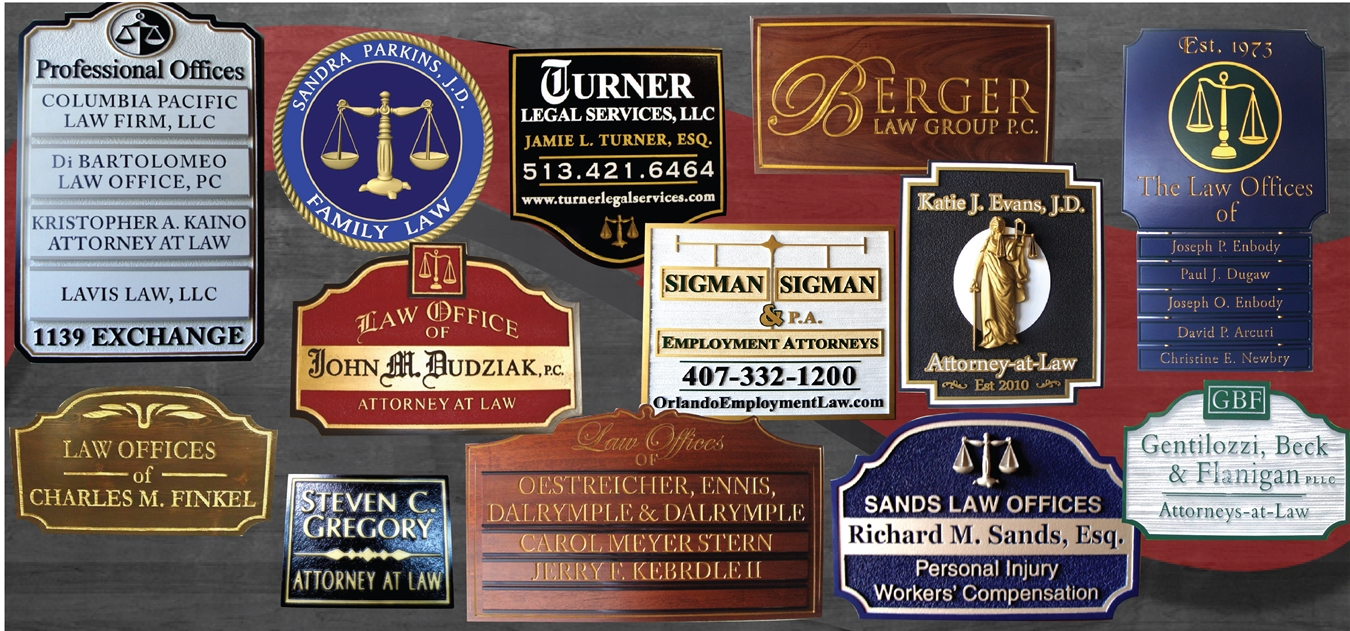Attorney Wood Wall Sign