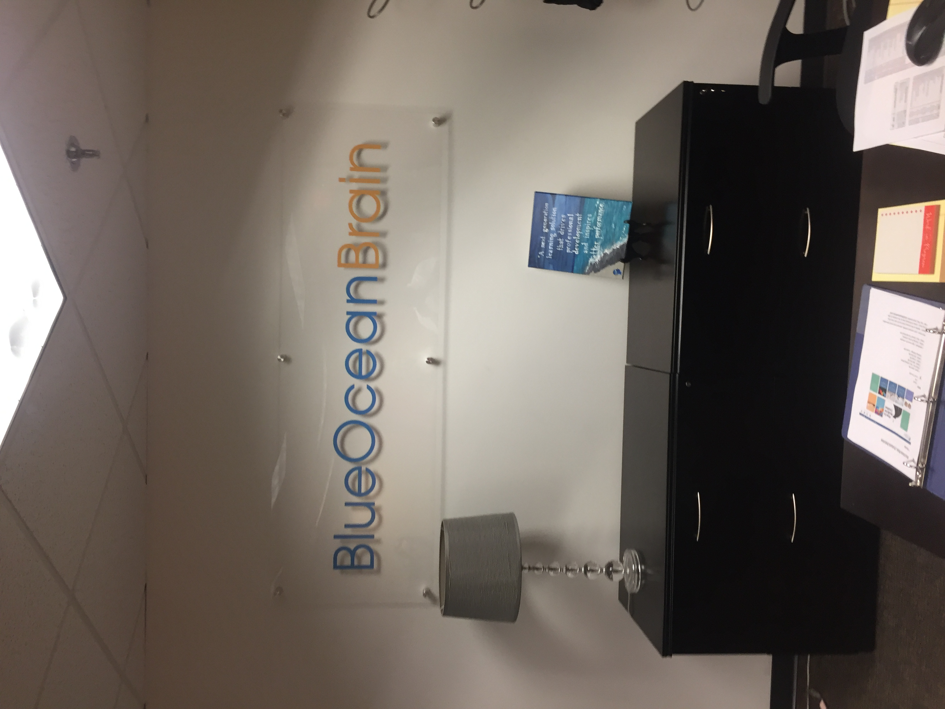 Acrylic Sign with stand-off hardware