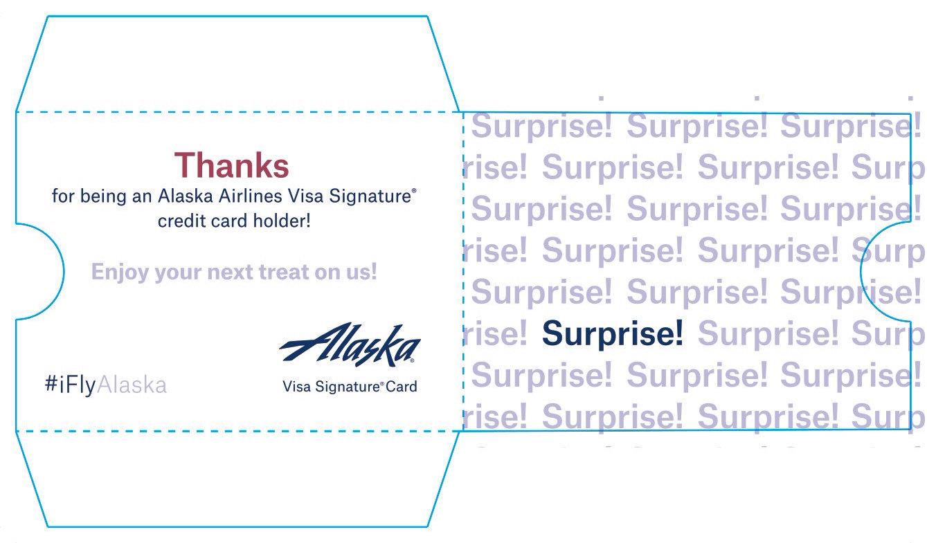 Alaska Air Gift Card Carrier
