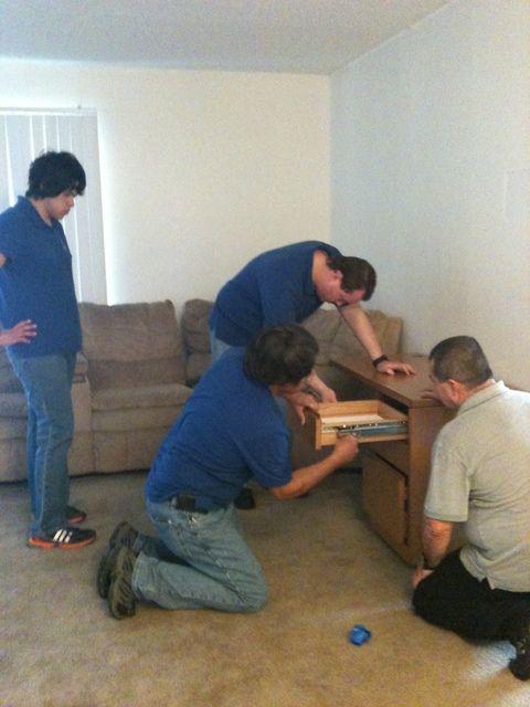 Veteran Recieves Furniture