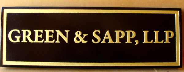 C12119 - Sandblasted HDU Name Sign for Financial Planning Group , with Raised Text and Border